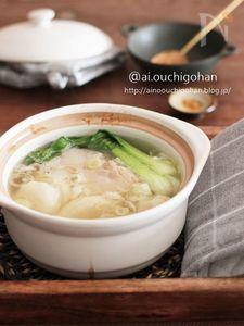 鶏肉と大根のしょうがたっぷり参鶏湯風スープ♡