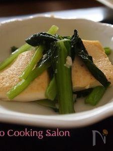 【おつまみ】豆腐と青菜の炒め物