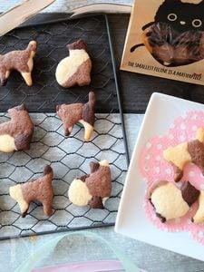 猫型マーブルクッキー♪