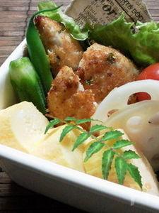 お弁当に〜ささみのパン粉焼き(山椒梅風味)