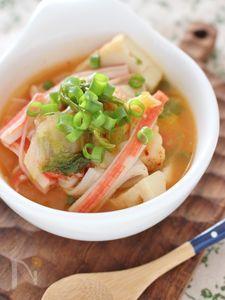 厚揚げのキムチスープ