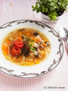 手作りビーフストックで * たっぷり野菜の滋味スープ
