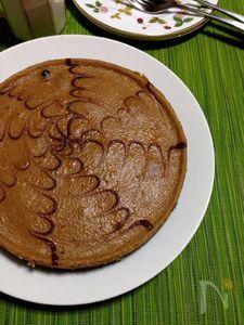 チョコを溶かして加えるだけ☆チョコレートチーズケーキ