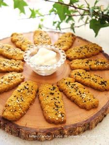 南瓜のセサミローズマリー塩クッキーパン