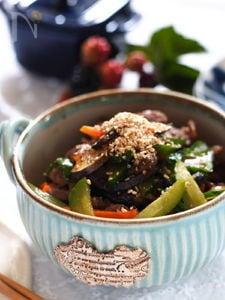 夏野菜の炒り煮