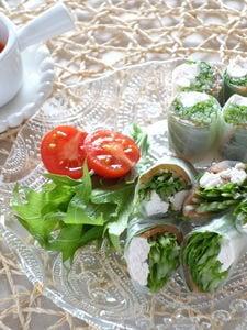 水菜たっぷり生春巻き
