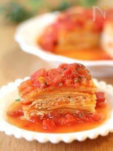 トマト煮込みのミルフィーユ白菜