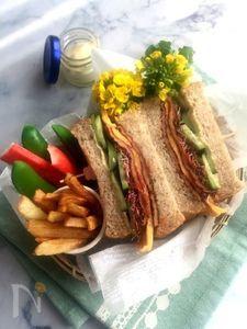 うすさつでサンドイッチ弁当♪
