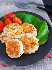 お弁当にも♪『むね肉 de オニオンチーズの刻み塩つくね』