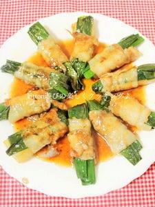 野菜も一緒に食べる♪大根とネギの肉巻き