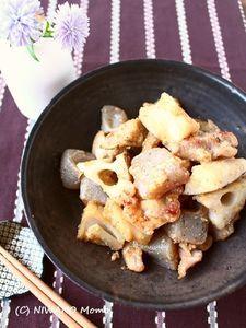ご飯がすすむ! * 鶏肉と根菜のごま味噌炒め煮