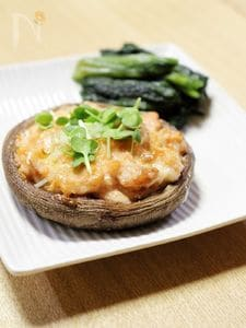 焼鮭のせ椎茸