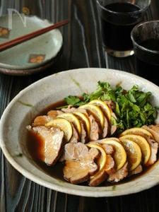 豚肉のめんつゆ煮 紅茶の香り