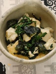 海苔塩大葉のさっぱりふるふる炒り豆腐
