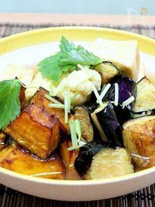 野菜たっぷりひと口揚げだし豆腐