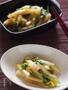 パパッとお手軽常備菜♪かぶの炒めナムル