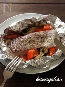 【138kcal】鯛のホイル焼き