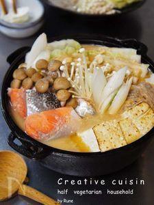 サッパリスダチの酒粕胡麻の中華風鍋