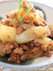 ジャガイモと挽き肉のコチュジャン炒め