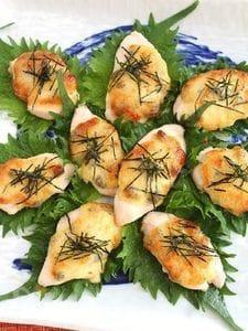 鶏ささみの味噌マヨ焼き