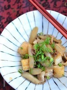 豚ごぼうと厚揚げ豆腐の甘辛煮【作りおき】