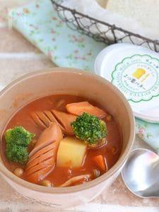 ごろごろ野菜とチーズのトマトスープ鍋