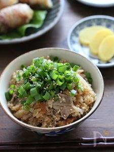豚バラ大根のポン酢炊き込みご飯。