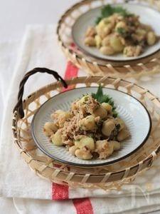 大豆とポテトのツナマリネ。