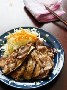 豚肉となすの生姜焼き