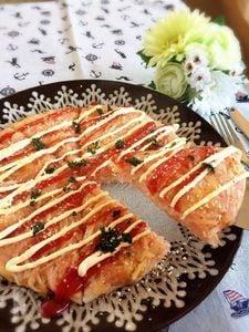中からチーズがとろ〜り♡Wチーズのもっちり明太ガレット♪