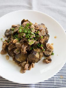茄子と豚肉の生姜焼き風炒め