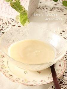 桃と豆乳の冷製スープ