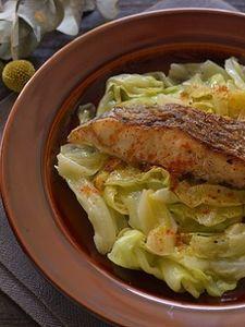 鯛とキャベツの炒め蒸し