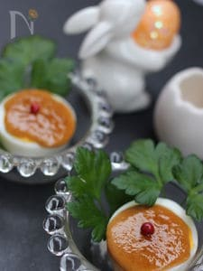 茹で卵のマヨ甘ソース焼き