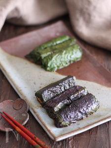 津軽の郷土料理  なすのしそ巻き【#食材2品】