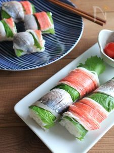 あじとかにかまの手綱寿司