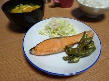 鮭のめんつゆ漬け焼き