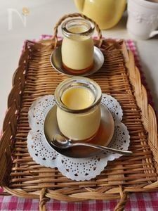 懐かしい味わいのカスタードプリン