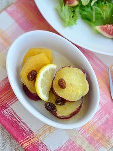 さつまいもと柿のレモン煮 【作りおき】