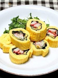 サラダスティックの「海苔チーズくるくる卵焼き」