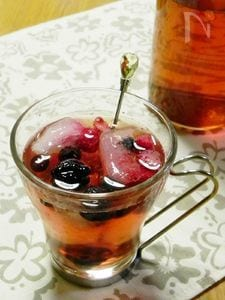フルーツ入り氷のドリンク