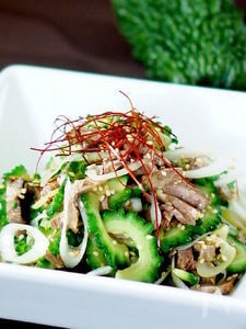 ゴーヤと焼豚の中華風和物