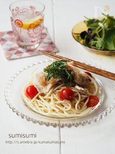 さっぱり冷し麺!ポン酢と玉ドレパスタ