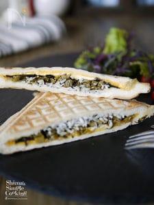 朝ごはん|お弁当|【シラス高菜のりチーズの和風ホットサンド】
