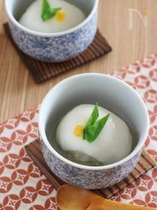 里芋の煮物をリメイク。里芋肉団子の餅餡かけ