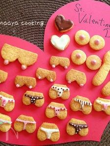 チョコペンで♬毎年恒例バレンタインクッキー(*^^*)
