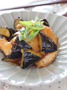 鶏胸肉とナスの揚げ物、甘酢和え