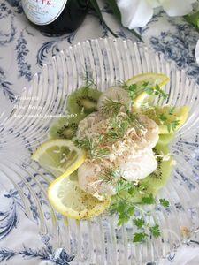 キウイと帆立のフルーティーサラダ