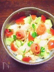 サラダ風ちらし寿司