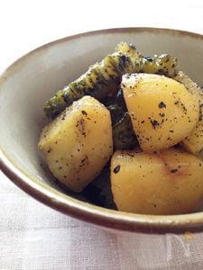 ゴーヤとジャガイモの煮物